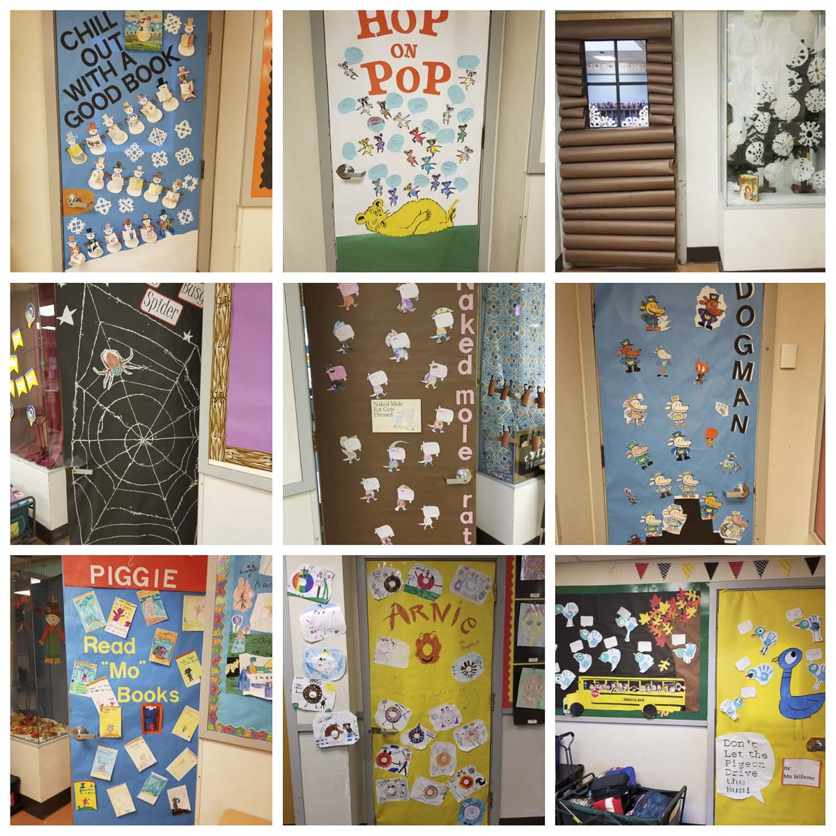 Union Ridge Elementary School students decorated their classroom doors with literary themes for their annual Read-a-Thon fundraiser. Photo courtesy of Ridgefield Public Schools