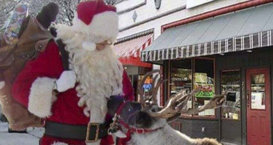 The Reindeer Block Party, featuring two live reindeer, will be 1 to 4 p.m. Sun., Dec. 8 on Main Street between 23rd and 24th streets. Photo courtesy of the Uptown Village Association