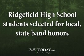 Ridgefield High School students selected for local, state band honors