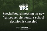 Special board meeting on new Vancouver elementary school decision is canceled