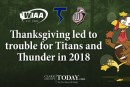 Thanksgiving led to trouble for Titans and Thunder in 2018