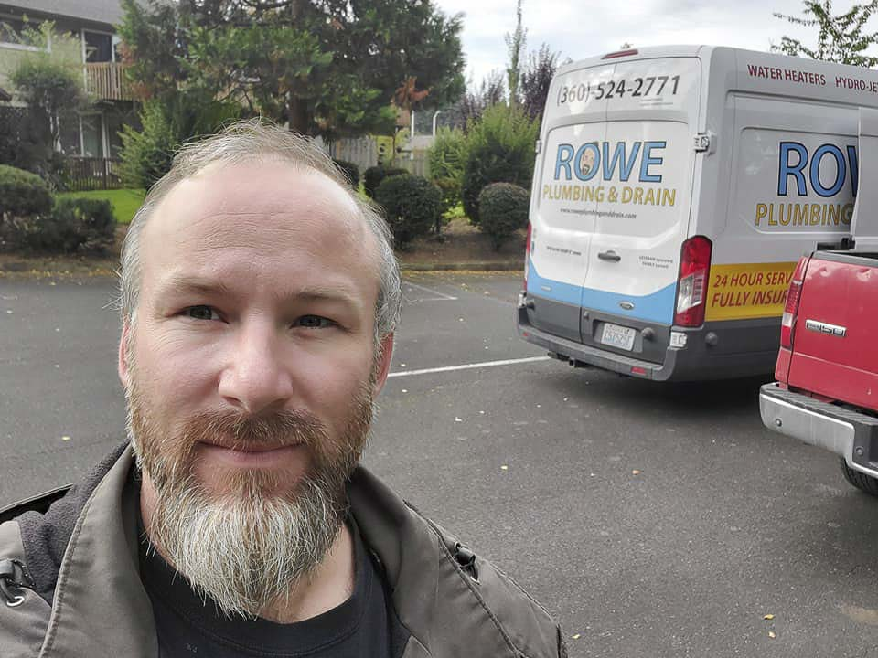 Timothy Rowe, owner of Rowe Plumbing and Drain in Battle Ground, was arraigned Friday on charges of rape and incest involving his daughter and step-daughter. Photo from Facebook