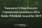 Vancouver Urban Forestry Commission announces Silva Bolds-Whitfield Award for 2019