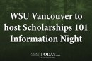 WSU Vancouver to host Scholarships 101 Information Night