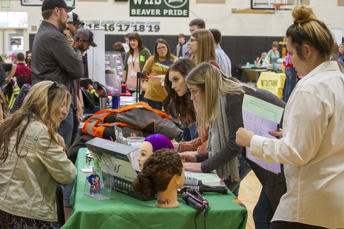 Career Explorations connected 69 area businesses with Woodland High School's Career-Life-College program. Photo courtesy of Woodland Public Schools