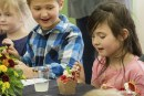 Yale Elementary School's students learned dining etiquette during the school's first-ever Fine Dining Event