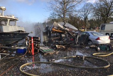 Ridgefield fire destroys RV trailer, damages boat, motorhome and vehicles