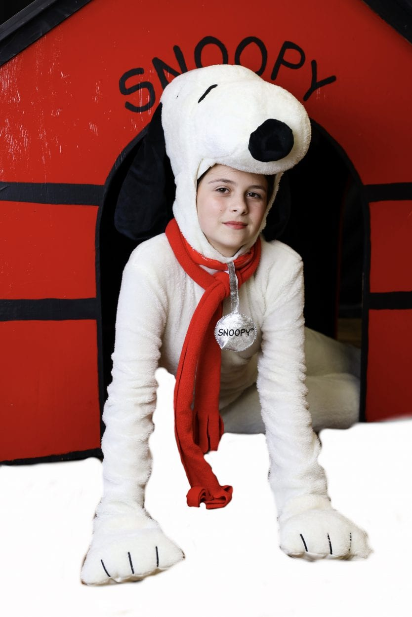 "Caroline Gienapp is seen here in her costume for her role as Snoopy in MPA's ""A Charlie Brown Christmas."" Photo courtesy of Metropolitan Performing Arts"