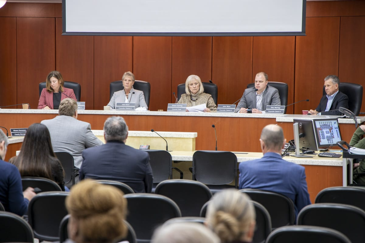 A divided Clark County Council approved a $545 million budget before the Thanksgiving holiday. Photo by Chris Brown