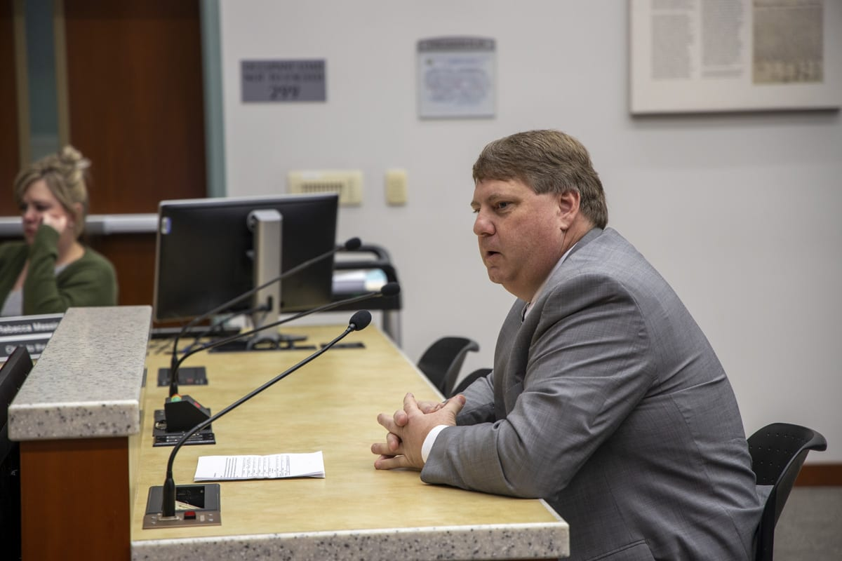 Clark County Assessor Peter Van Nortwick secured one of two requested positions to help with changes to the Senior Citizen Property Tax Exemption program. Photo by Chris Brown