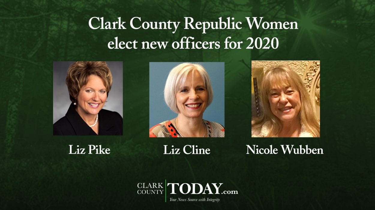 Clark County Republican Women, new officers elected, Year End Awards, Liz Pike, Liz Cline, Nicole Wubben