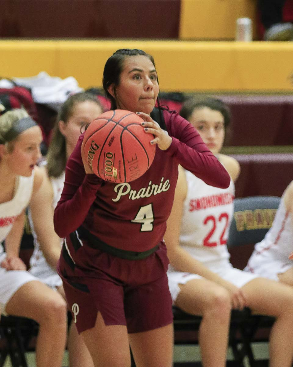 Allison Corral has been a starter in all four seasons at Prairie. She helped the Falcons win a Class 3A state title last year. She said she does not plan on playing college basketball, so this would be her final season of organized ball. Photo by Mike Schultz