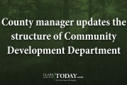 County manager updates the structure of Community Development Department