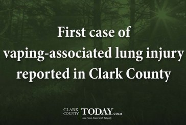 First case of vaping-associated lung injury reported in Clark County