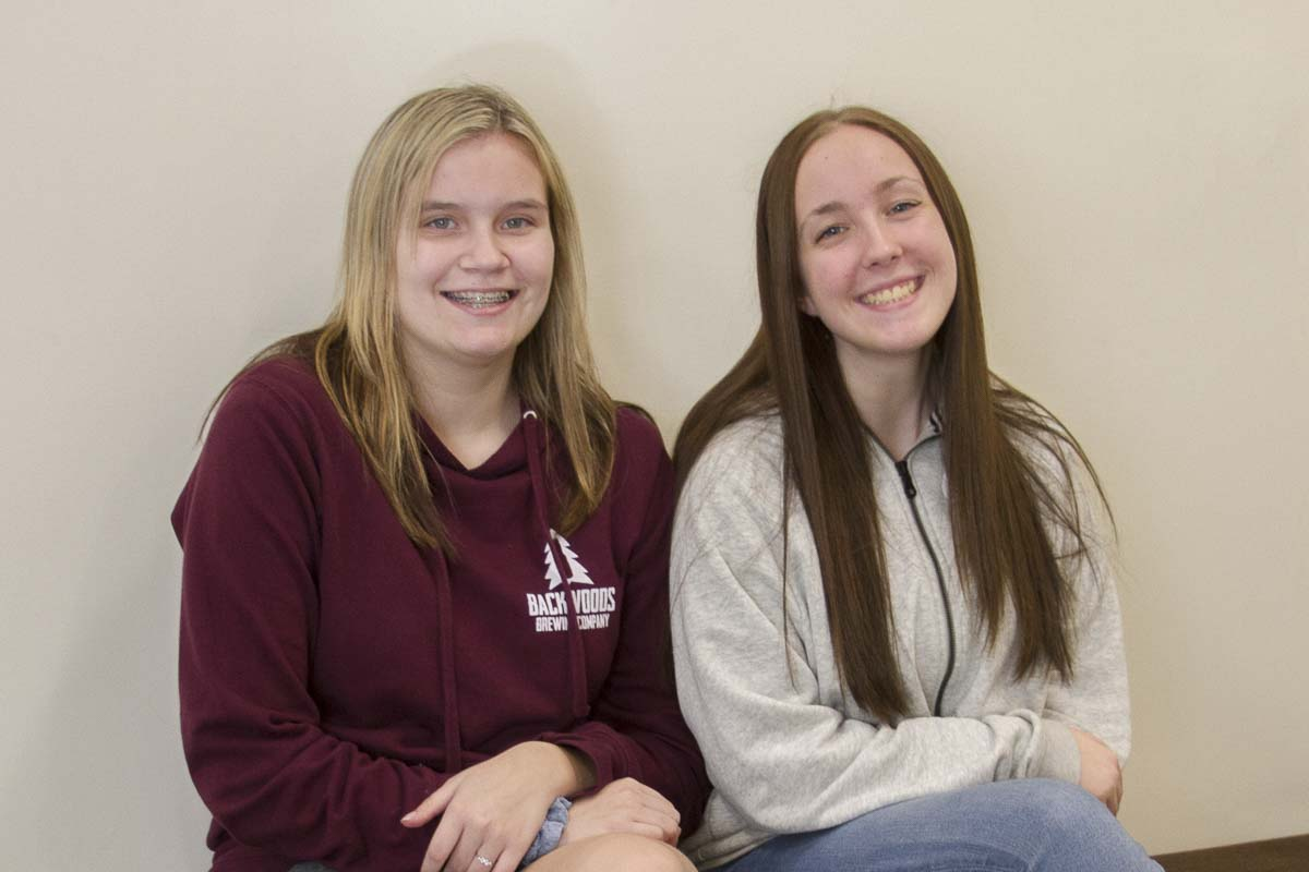 Woodland High School juniors Ileen Kafferlin (left) and Madison Gosser (right) were PASS students during the ninth grade. Photo courtesy of Woodland Public Schools