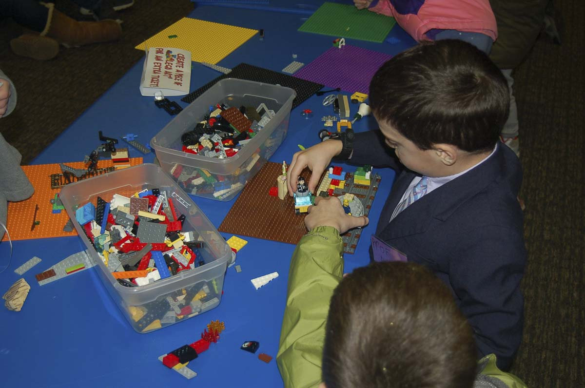Children's winter crafts and Lego activities will be held at the DCA tables in Journey Church during Camas' First Friday event Jan. 3. Photo courtesy of Camas Downtown Association