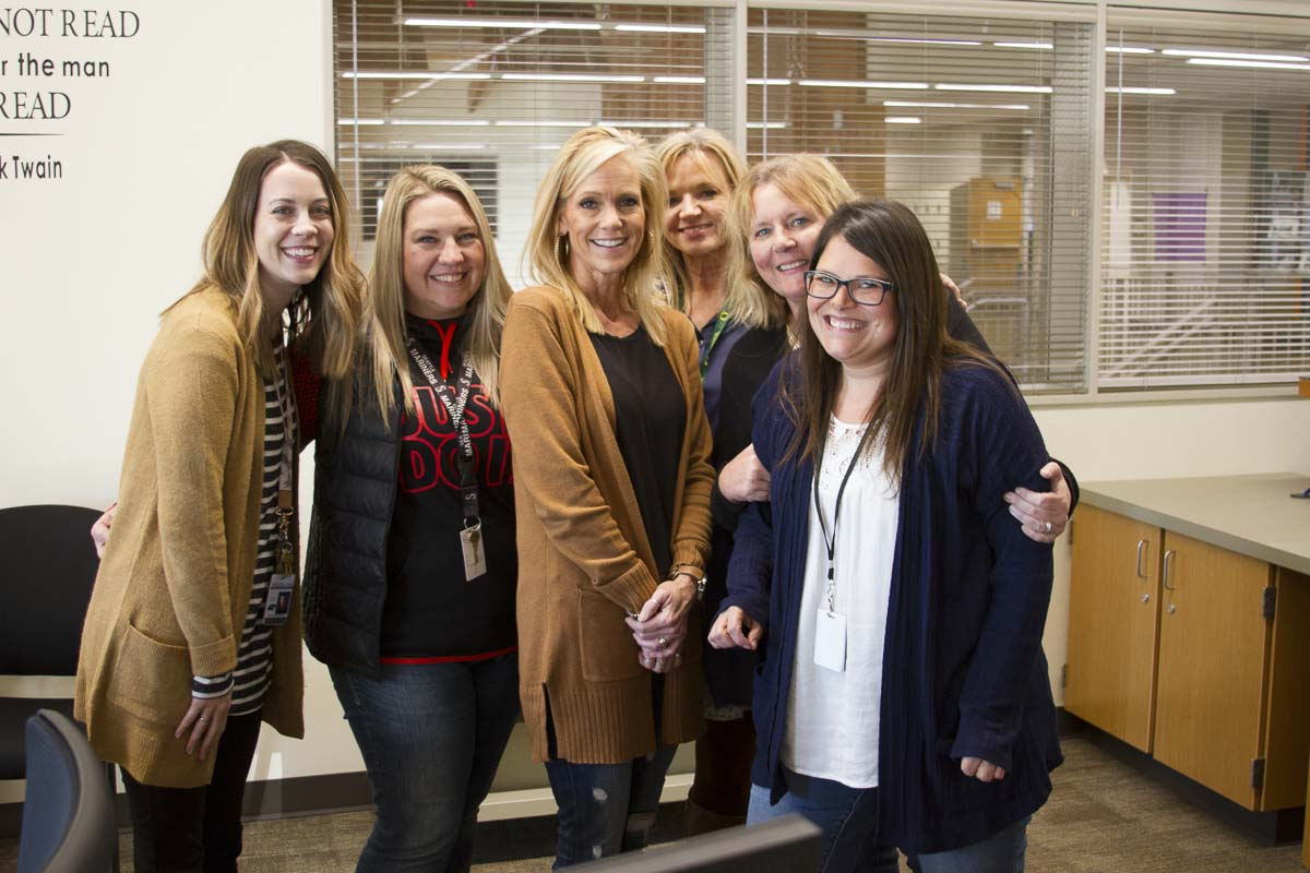The Woodland High School PASS Team is shown here. From left-to-right, Catherine Pulliam, Keitra Curnutt, Cyndy Grayson, Mary Ann Sturdivan, Dana Preston, and Stacy Gould. Photo courtesy of Woodland Public Schools