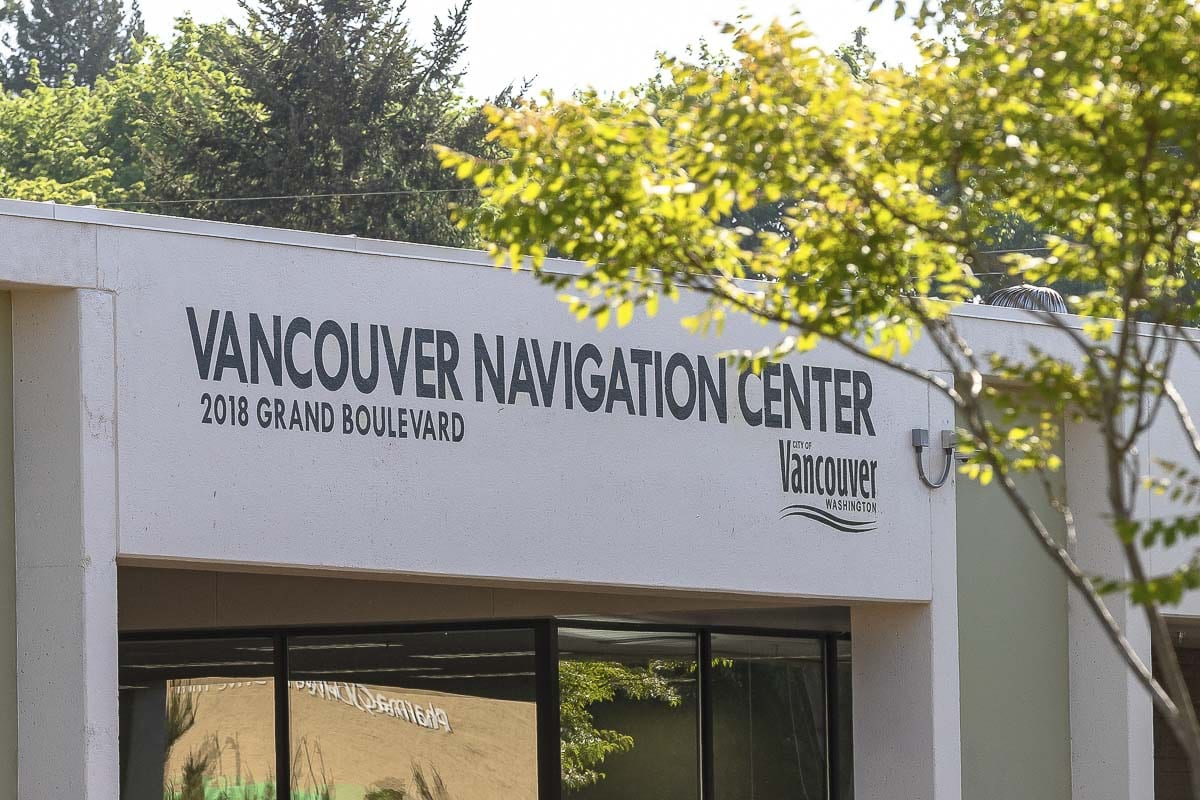 The Vancouver Navigation Center on Grand Blvd near Fourth Plain has been a flashpoint for people upset about homelessness in Vancouver. Photo by Mike Schultz