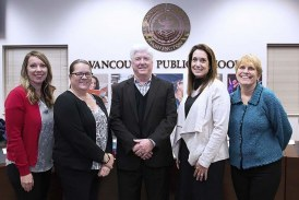 Newly elected Vancouver Public Schools board members waste no time getting involved in first meeting