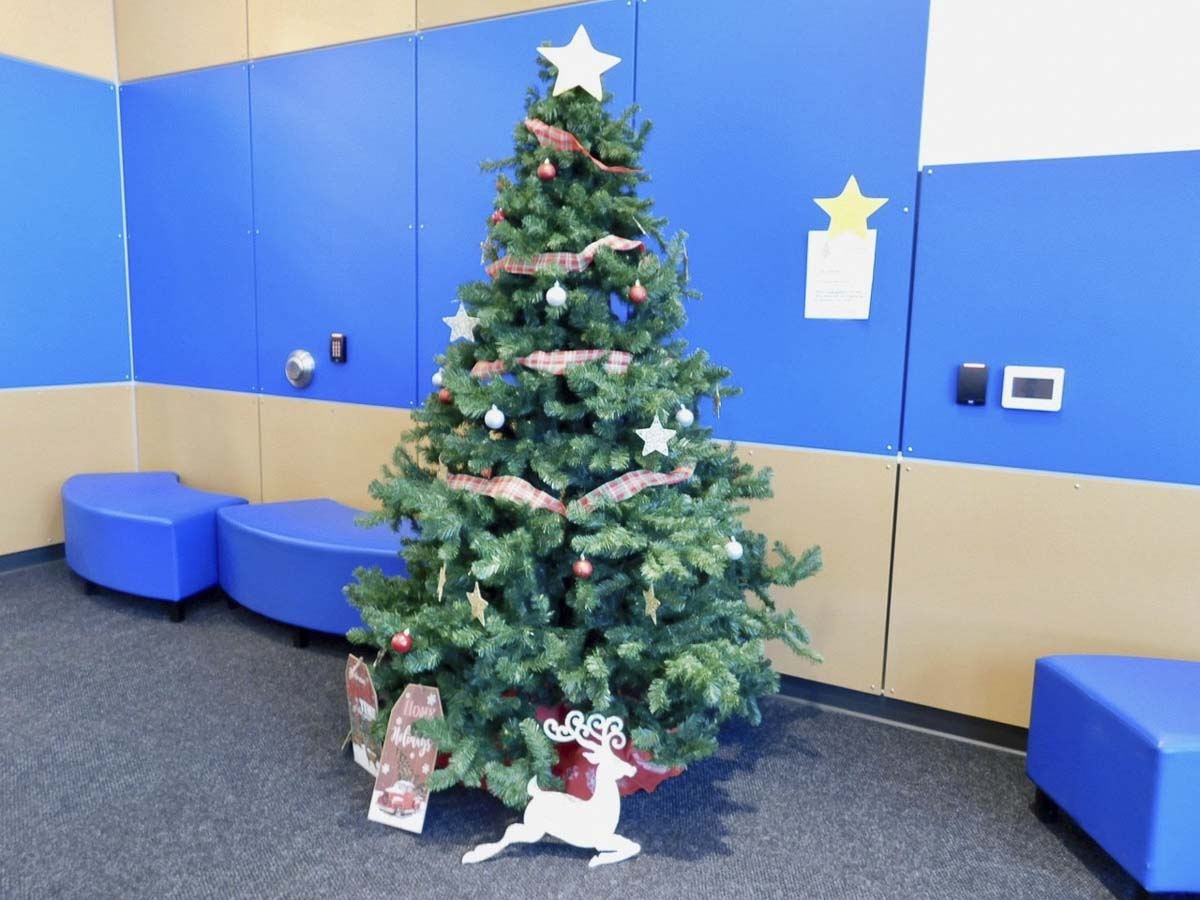 The Giving Tree at View Ridge Middle School. Photo courtesy of Ridgefield Public Schools