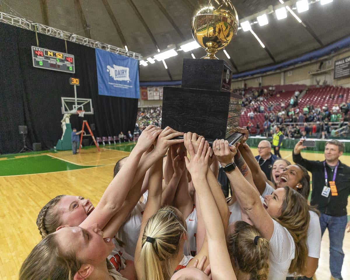 The Washougal Panthers won the Class 2A state title last basketball season. A new year, the Panthers, and all teams, are trying to improve and get ready for January's push for the playoffs. Photo by Mike Schultz