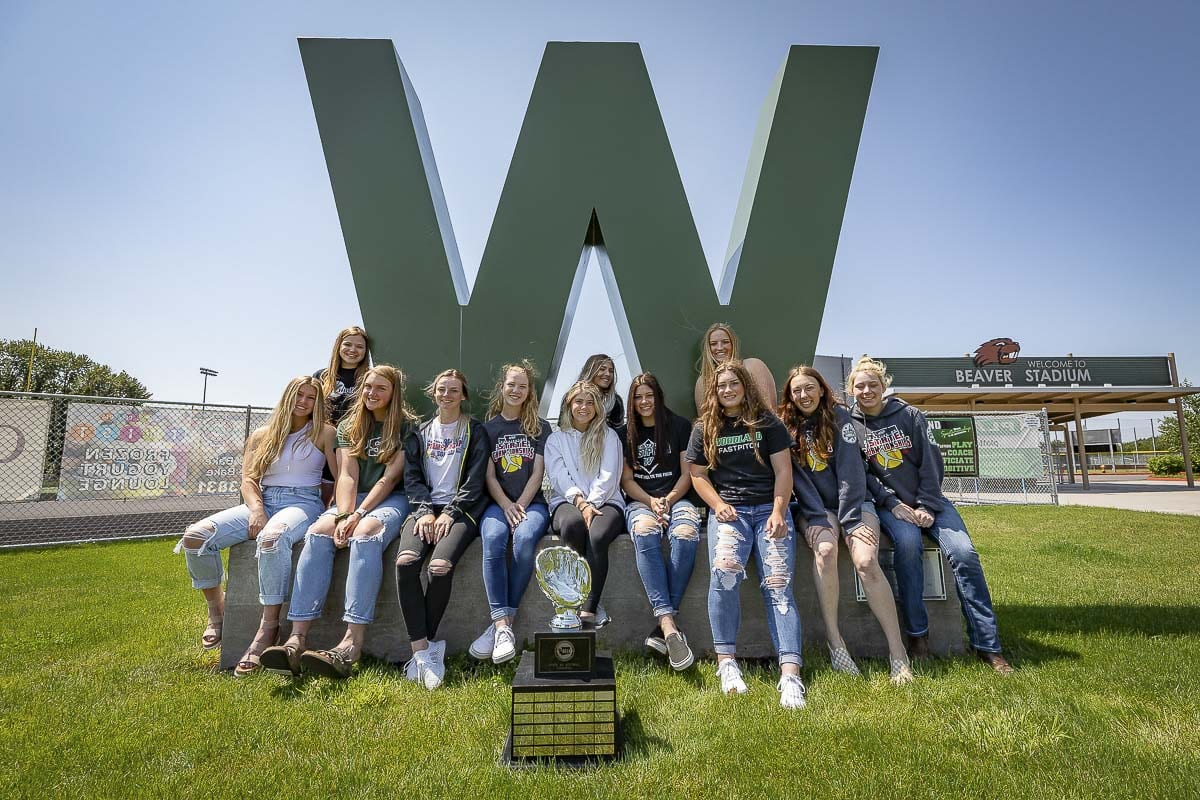 The Woodland Beavers won their second consecutive state softball title. Photo by Mike Schultz