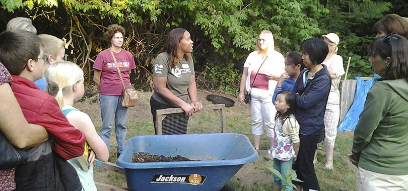 Participants who successfully complete the program are certified as Master Composter Recyclers. Graduates are asked to contribute 30 volunteer hours within a year in exchange for the training. Photo courtesy of Clark County Master Composter Recyclers