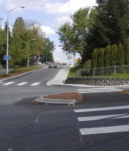 The city of Vancouver's Neighborhood Traffic Calming Program helps residents improve neighborhood livability and calm traffic by suggesting solutions and championing project proposals. Photo courtesy of city of Vancouver