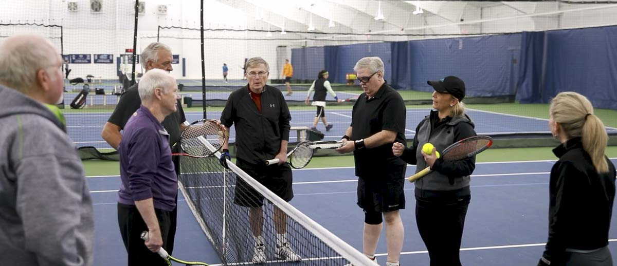 Sanja Lemes talks with her student, including Jim Boyer, during a night of practice at the VTC. Photo by Jacob Granneman