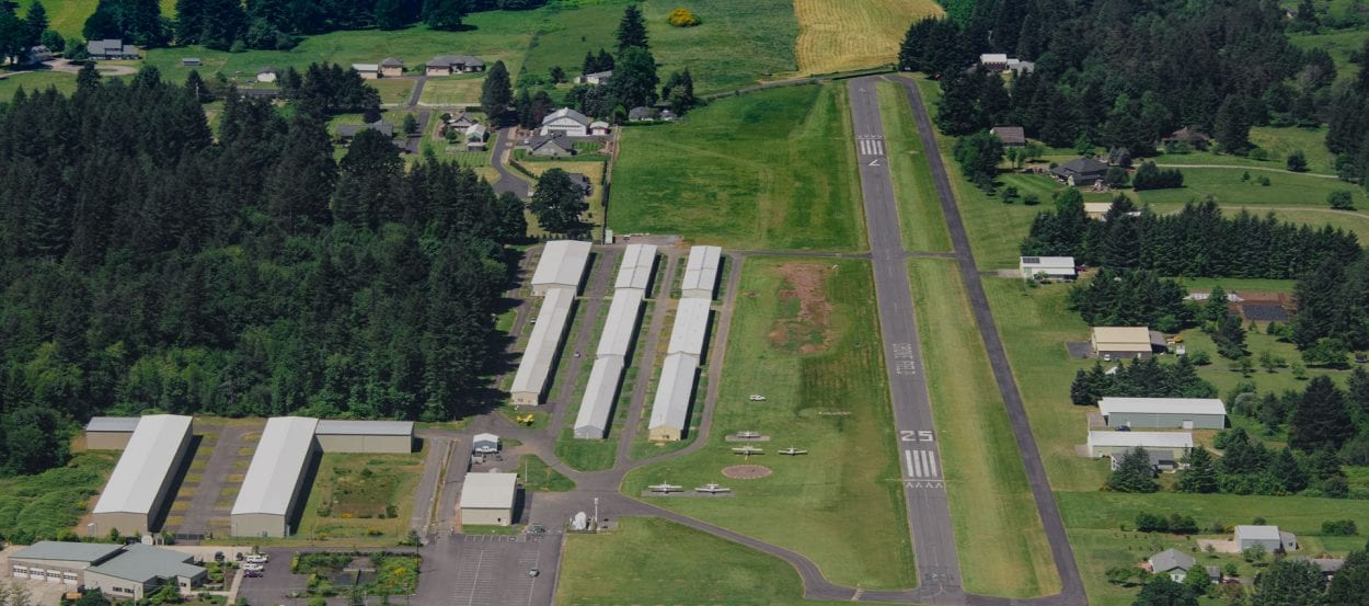 Grove Field in Camas is home to a number of the area's private aircraft. Photo courtesy Port of Camas-Washougal