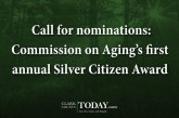 Call for nominations: Commission on Aging's first annual Silver Citizen Award