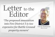 Letter: 'The proposed annexation into Fire District 3 is too expensive for Battle Ground property owners'