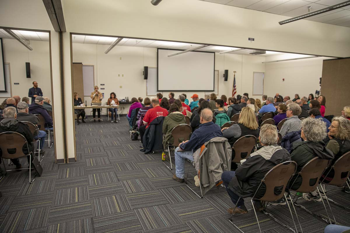 Lawmakers from the 49th Legislative District spoke to a packed house this Saturday for their first town hall of 2020. Photo by Jacob Granneman