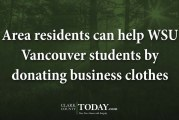 Area residents can help WSU Vancouver students by donating business clothes