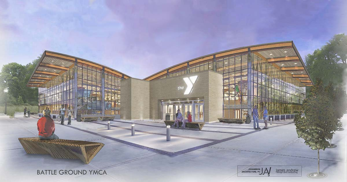 An architect's rendering of what a Battle Ground YMCA could look like. Image courtesy Friends of the Battle Ground YMCA