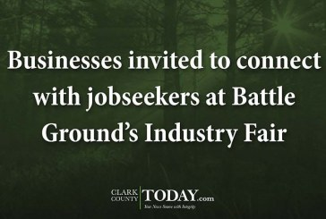 Businesses invited to connect with jobseekers at Battle Ground's Industry Fair