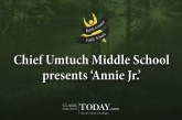Chief Umtuch Middle School presents 'Annie Jr.'