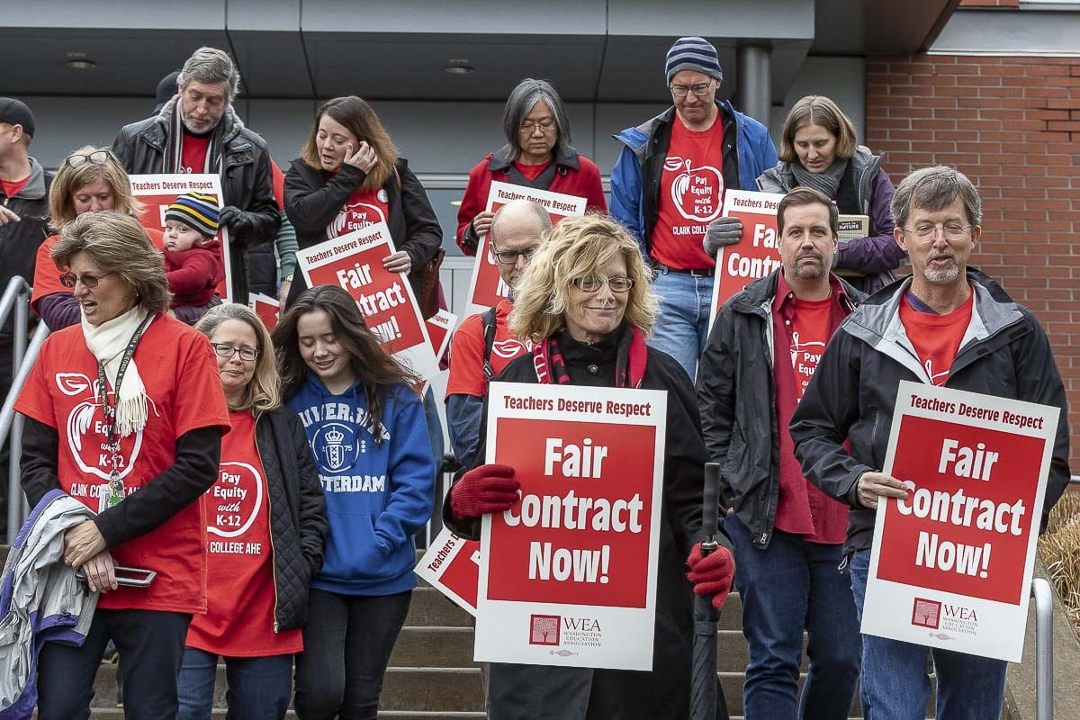 Clark College faculty could go on strike Jan. 13 if no new contract is reached. File Photo by Mike Schultz