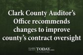 Clark County Auditor's Office recommends changes to improve county's contract oversight