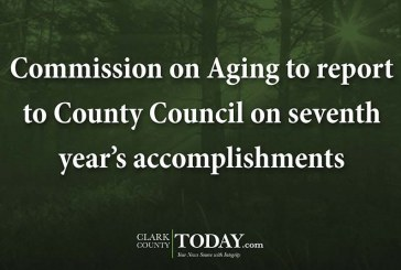 Commission on Aging to report to County Council on seventh year's accomplishments