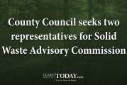 County Council seeks two representatives for Solid Waste Advisory Commission