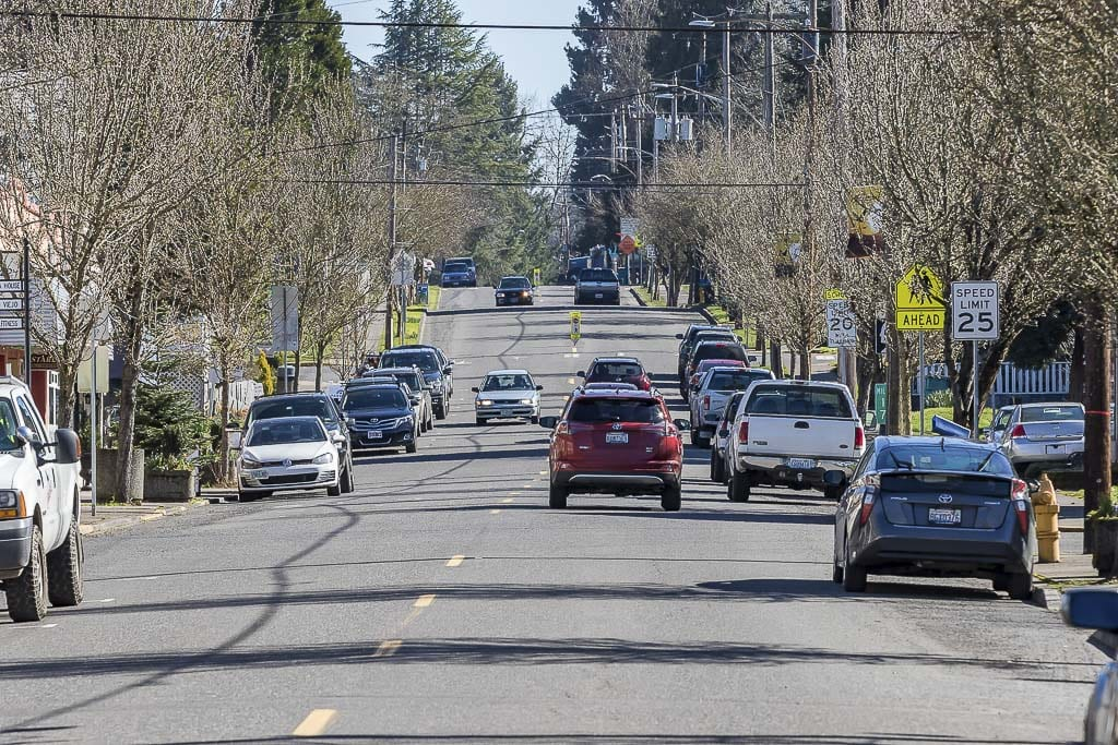 The view looking down Pioneer Street in downtown Ridgefield is shown here, taken two years ago. Ridgefield continues to be the fastest growing city in the state of Washington. Photo by Mike Schultz