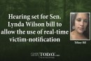 Hearing set for Sen. Lynda Wilson bill to allow the use of real-time victim-notification technology
