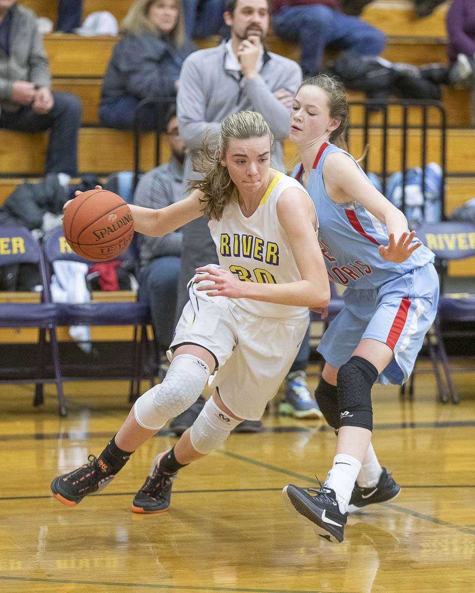Jordan Ryan, a 6-foot senior, is hoping to help Columbia River to a great season. She leads the team in points, rebounds, and assists. Photo by Mike Schultz