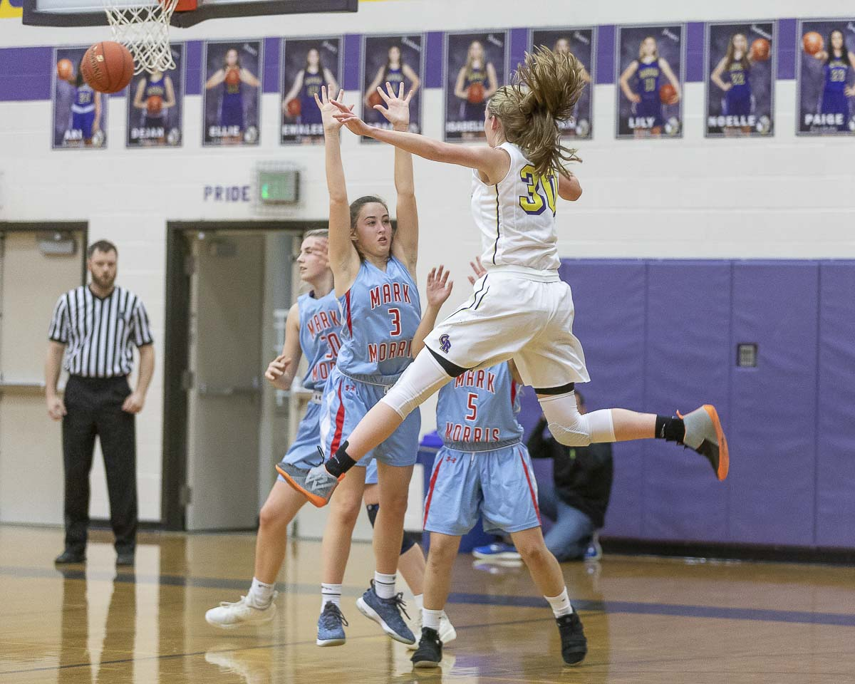 Jordan Ryan of Columbia River hopes to play college basketball. Wherever she goes, that program will get an athlete who never seems to stop pushing herself. Photo by Mike Schultz