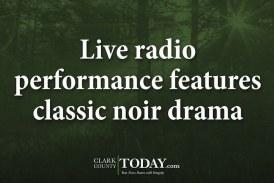 Live radio performance features classic noir drama