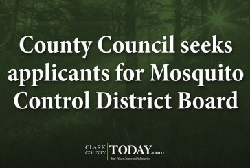 County Council seeks applicants for Mosquito Control District Board