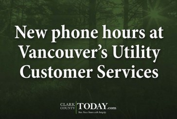 New phone hours at Vancouver's Utility Customer Services
