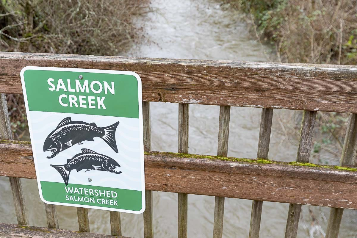 New watershed signs will be going up all around Clark County this year thanks to input from the public and funded by a $120,000 grant from the Lower Columbia Fish Recovery Board. Photo by Mike Schultz