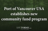 Port of Vancouver USA establishes new community fund program